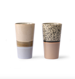 HK Living 70's latte mugs (set of 2)