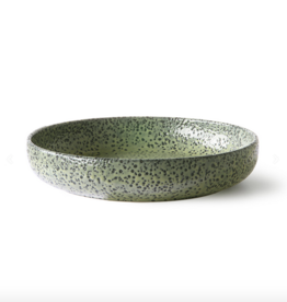 HK Living Gradient ceramics: deep plate green ( set of 2 )
