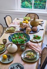 HK Living Gradient ceramics: deep plate green ( set of 2 )