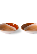 HK Living 70's ceramic curry bowls: hills (set of 2)