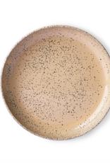 HK Living Gradient ceramics : deep plate taupe (set of 2)