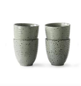 HK Living Gradient ceramics : mug green (set of 4)