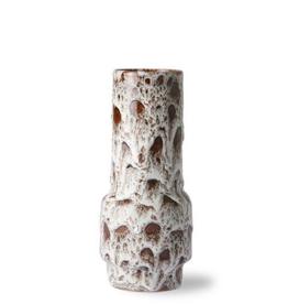 HK Living Ceramic retro vase lava white