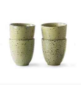 HK Living Gradient ceramics: mug yellow (set of 4)