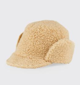 Cableami Boa sherpa cap hat beige