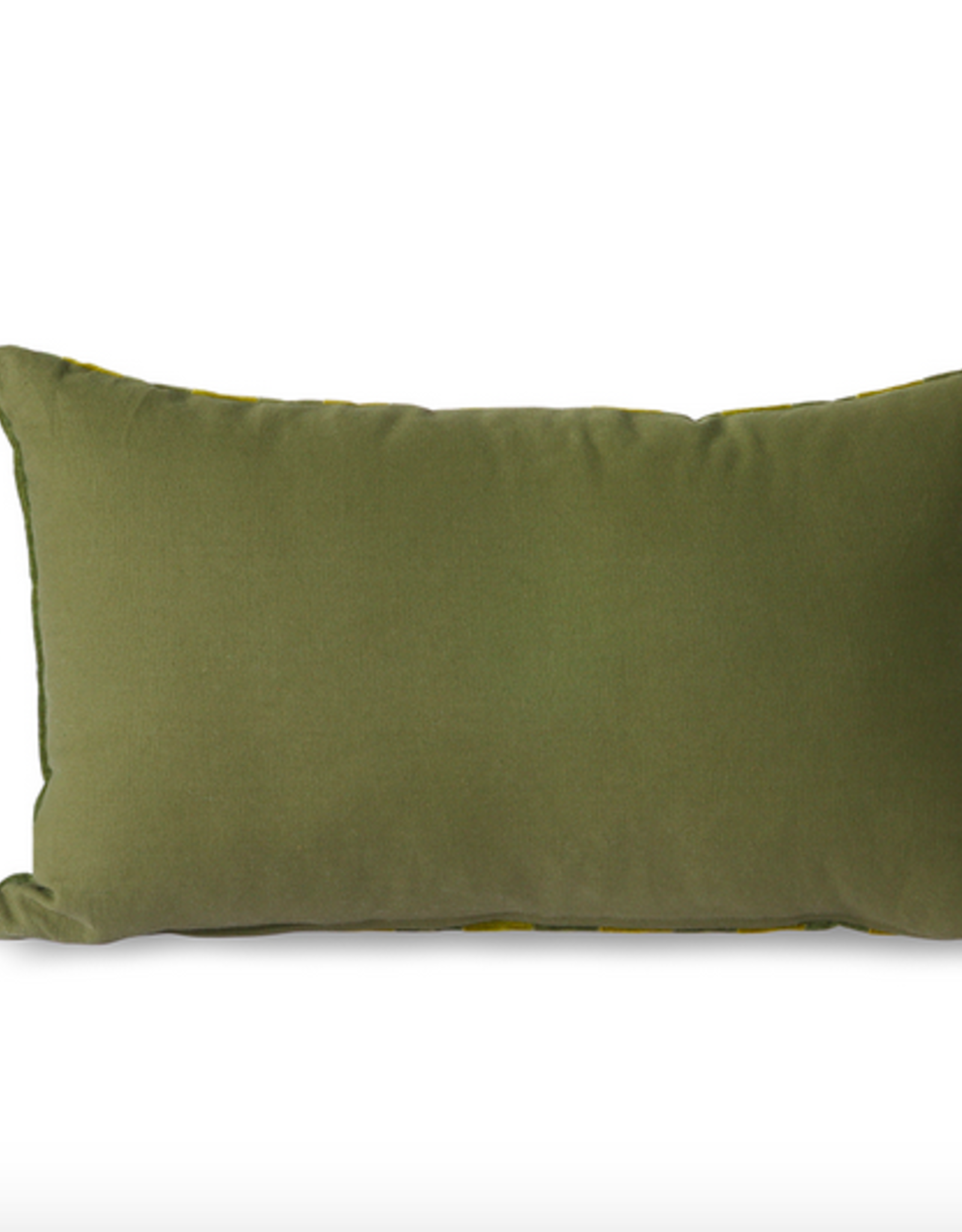 HK Living Hk Living striped velvet cushion green camo (30x50)