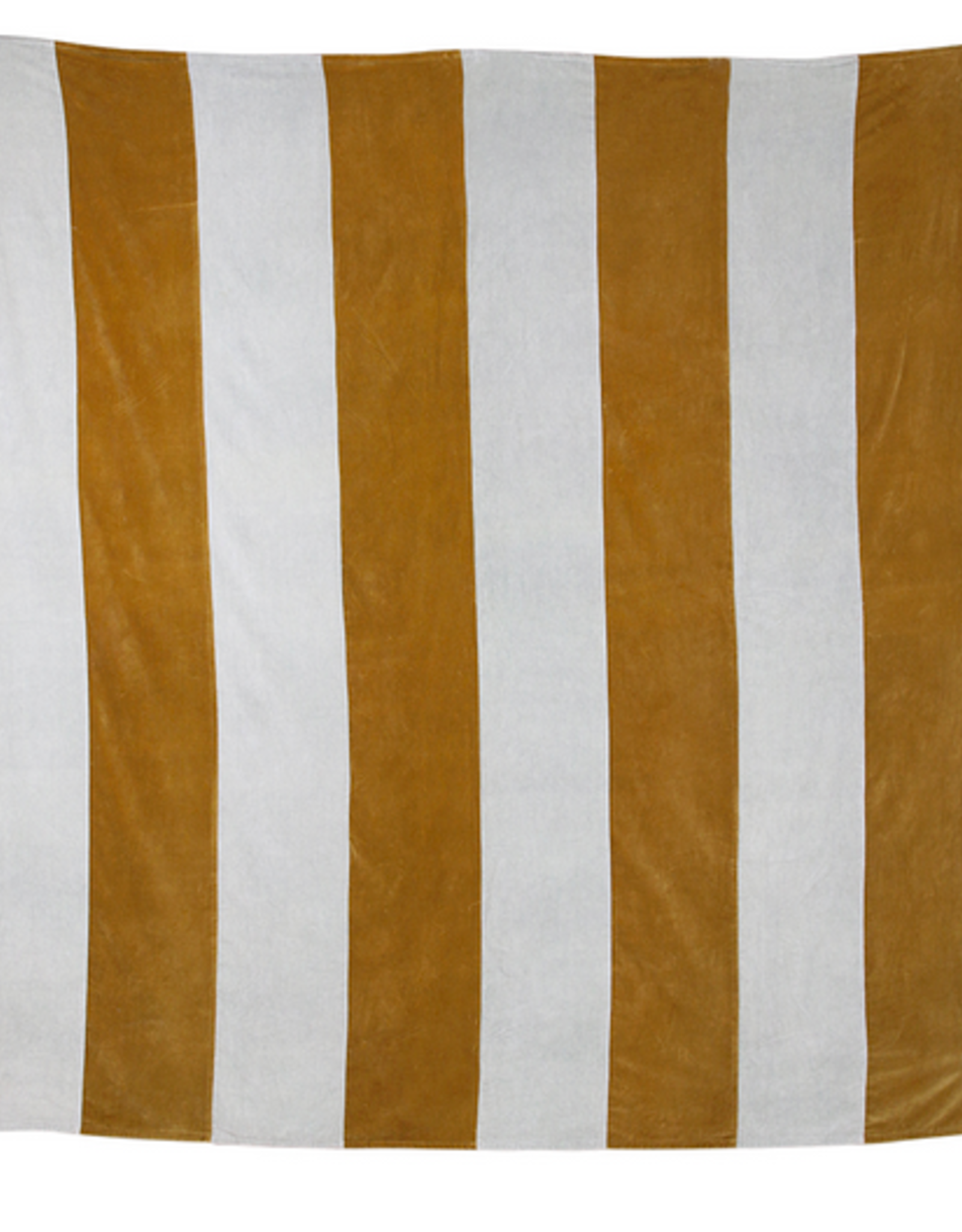 HK Living Striped bedspread velvet grey gold (240x260)