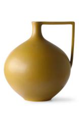HK Living Ceramic jar L mustard