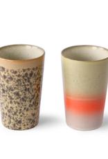 HK Living 70's tea mugs ( set of 2 )