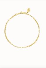 Flawed zinnia bracelet gold