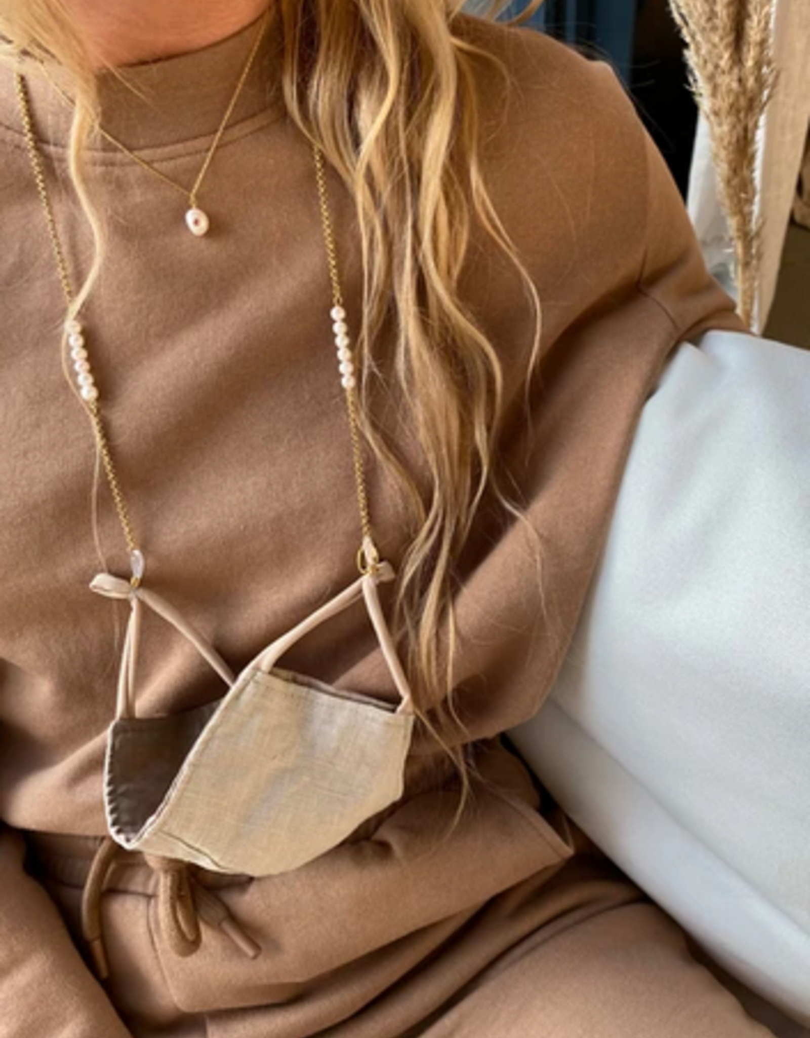 Coco Bonito Sunnycord Chain with round pearls