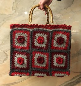 La Milanesa Crochet bag big B
