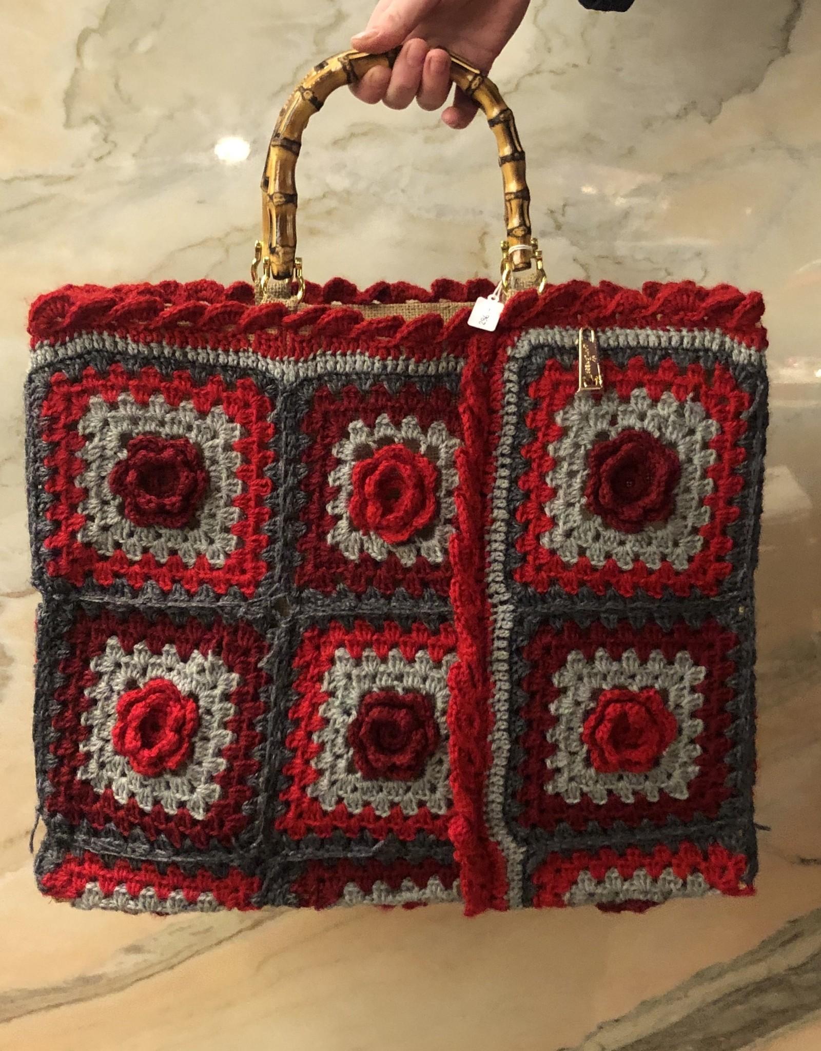 La Milanesa Crochet bag big B