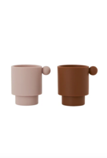 OYOY Tiny Inka cup silicone (pack of 2)
