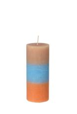 broste copenhagen Pillar candle rainbow caramel