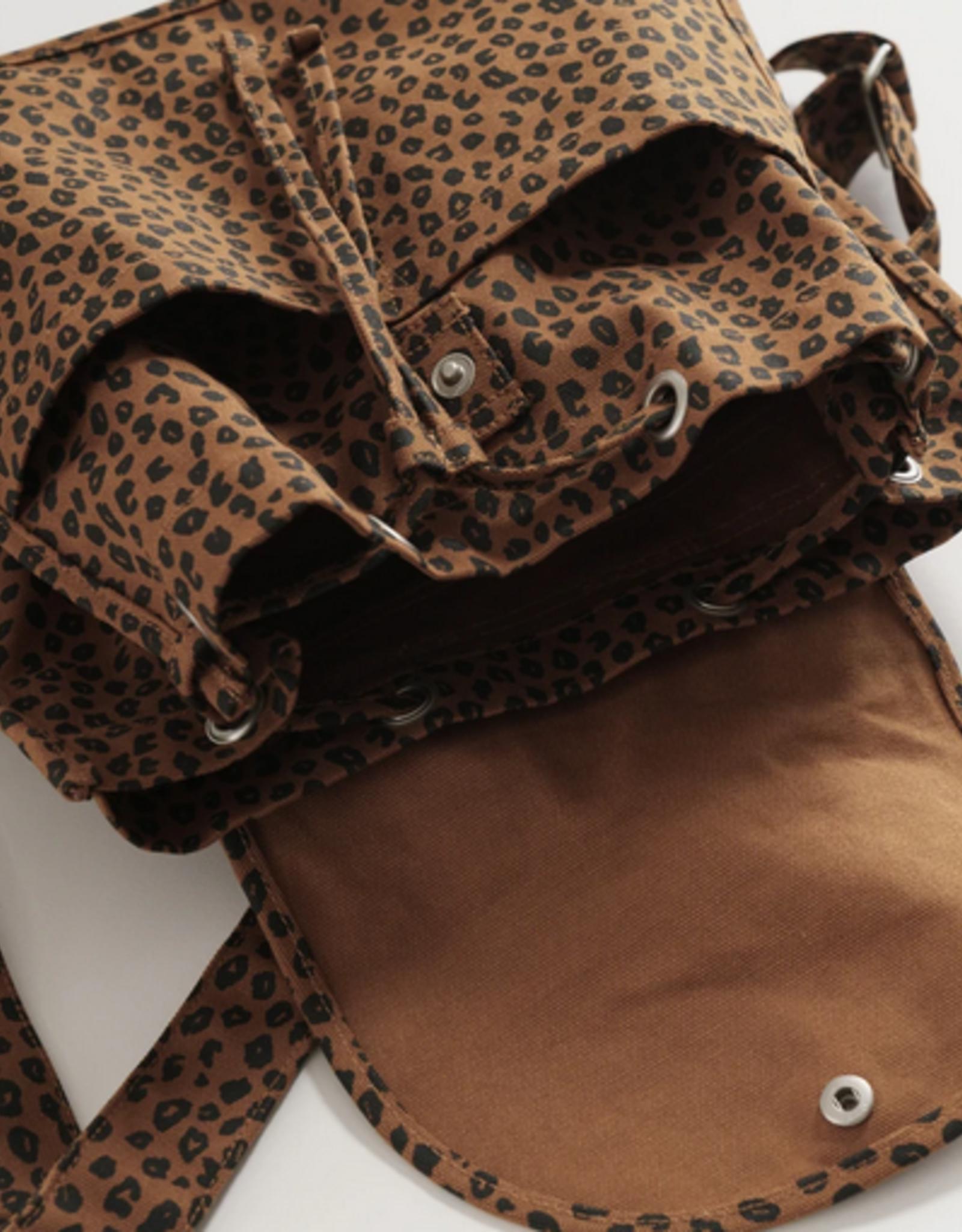 Baggu Drawstring backpack leopard nutmeg