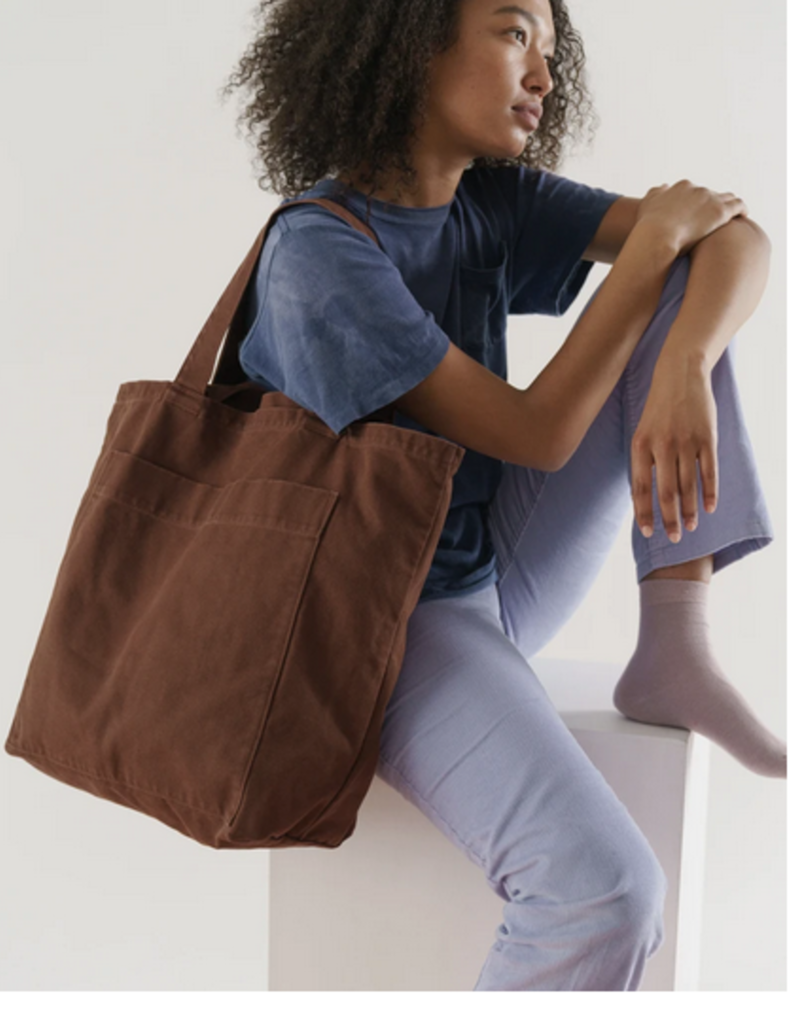 Baggu Giant pocket tote washed brown