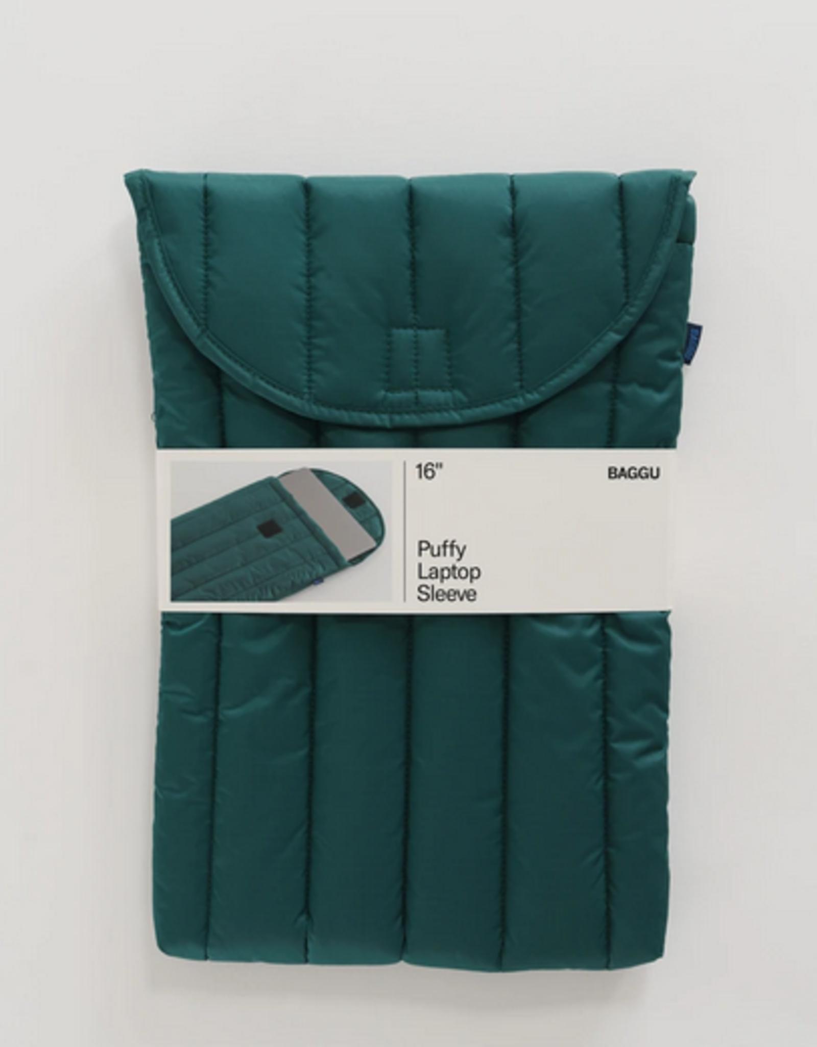 Baggu Puffy Laptop sleeve Malachite 16 Inch