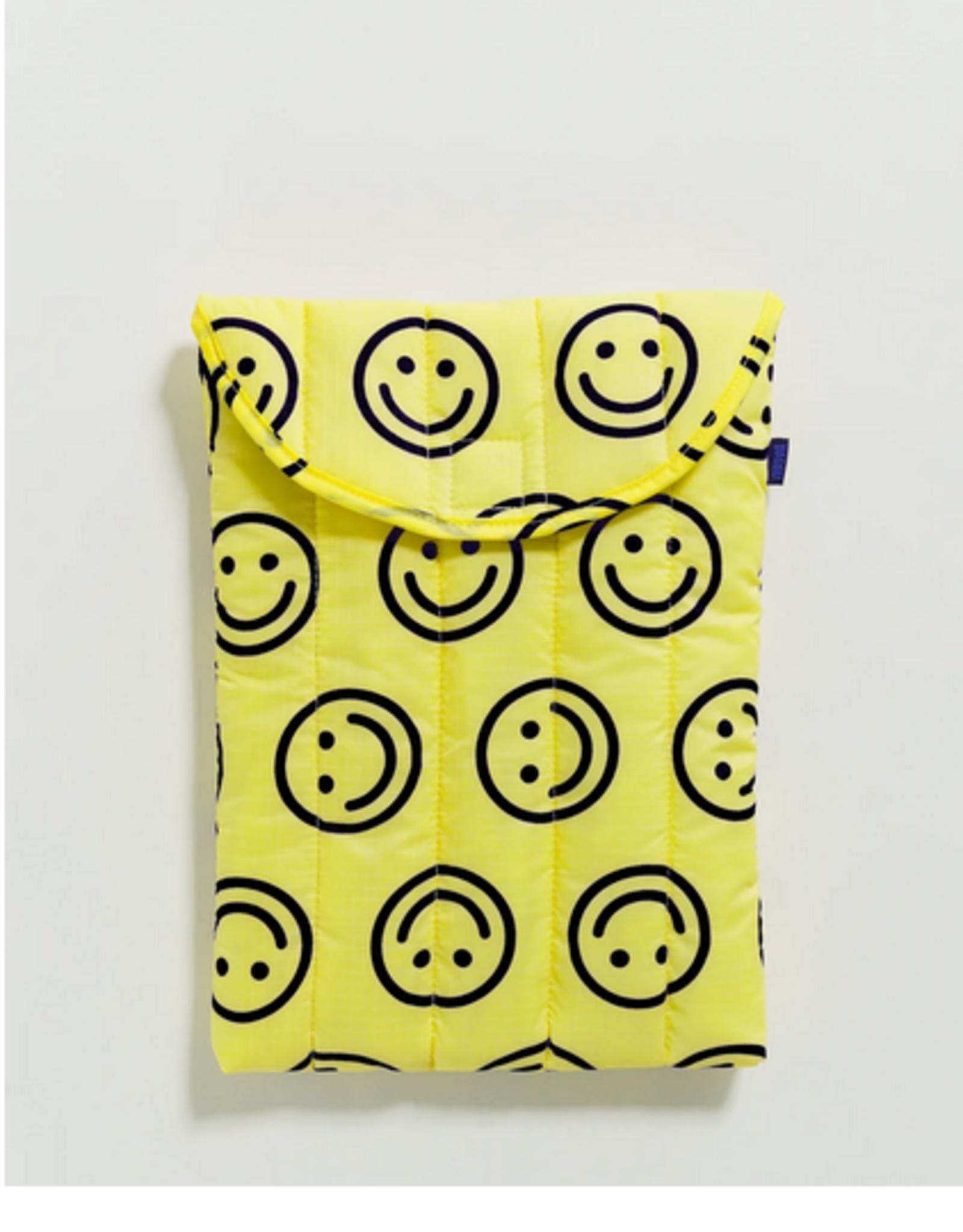 Baggu Puffy laptop sleeve smiley 13 inch