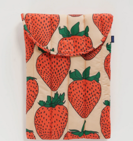 Baggu Puffy laptop sleeve strawberry 16 inch