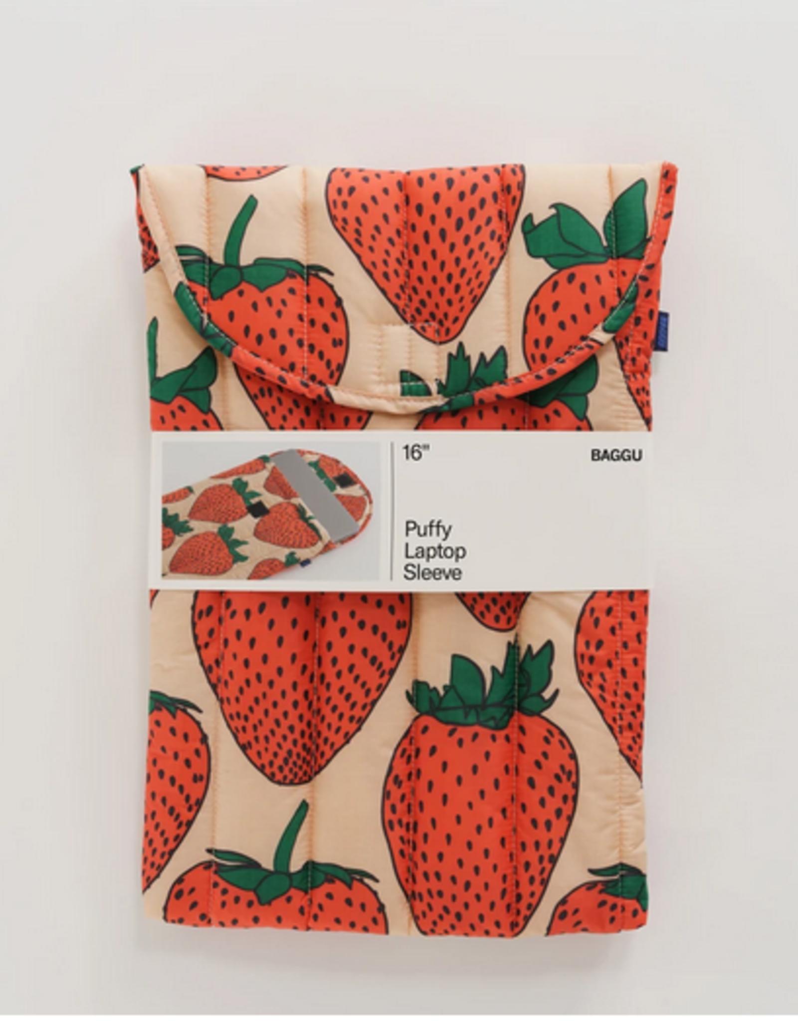 Baggu Puffy laptop sleeve strawberry 16 inch