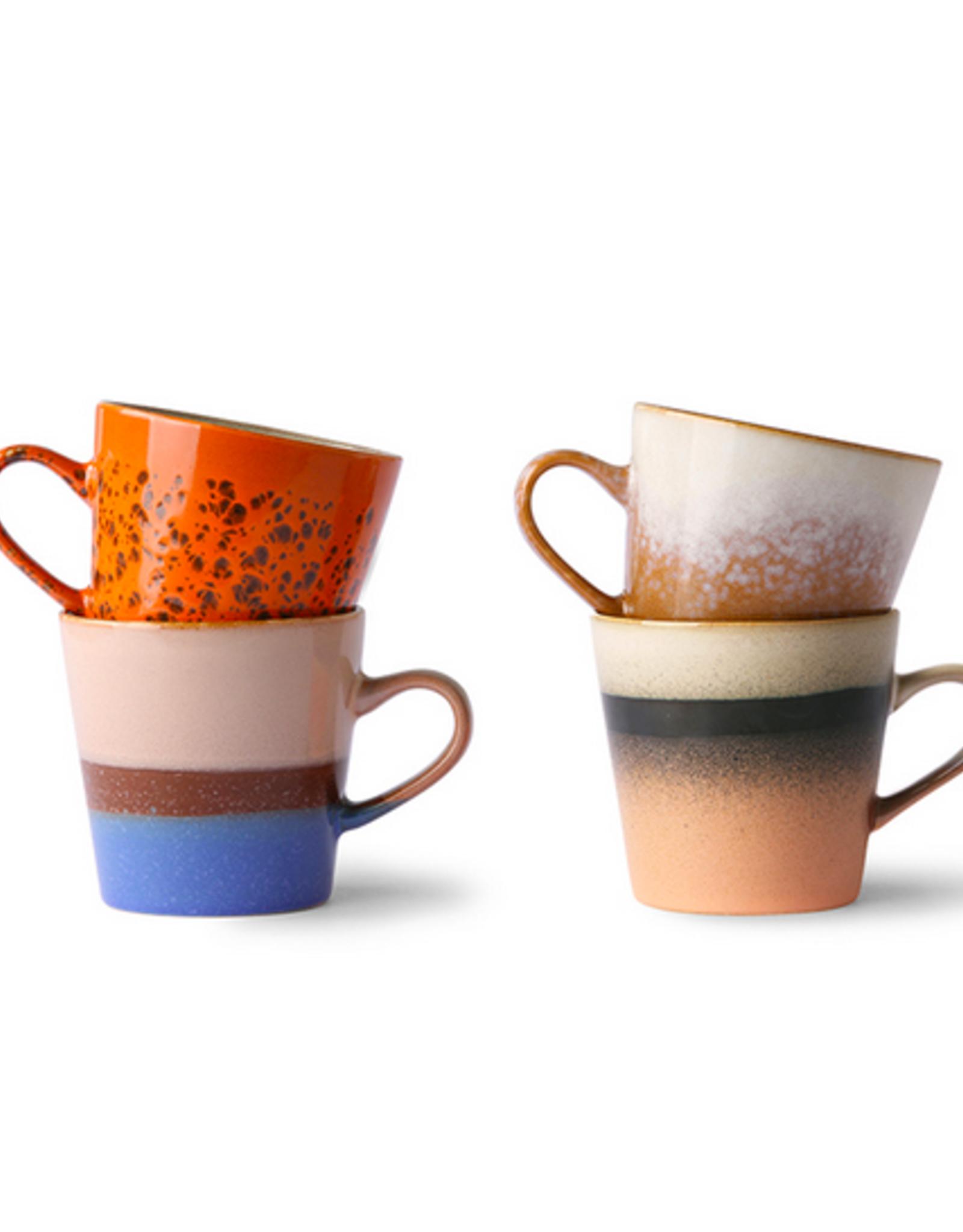 HK Living 70's Americano mugs (set of 4)