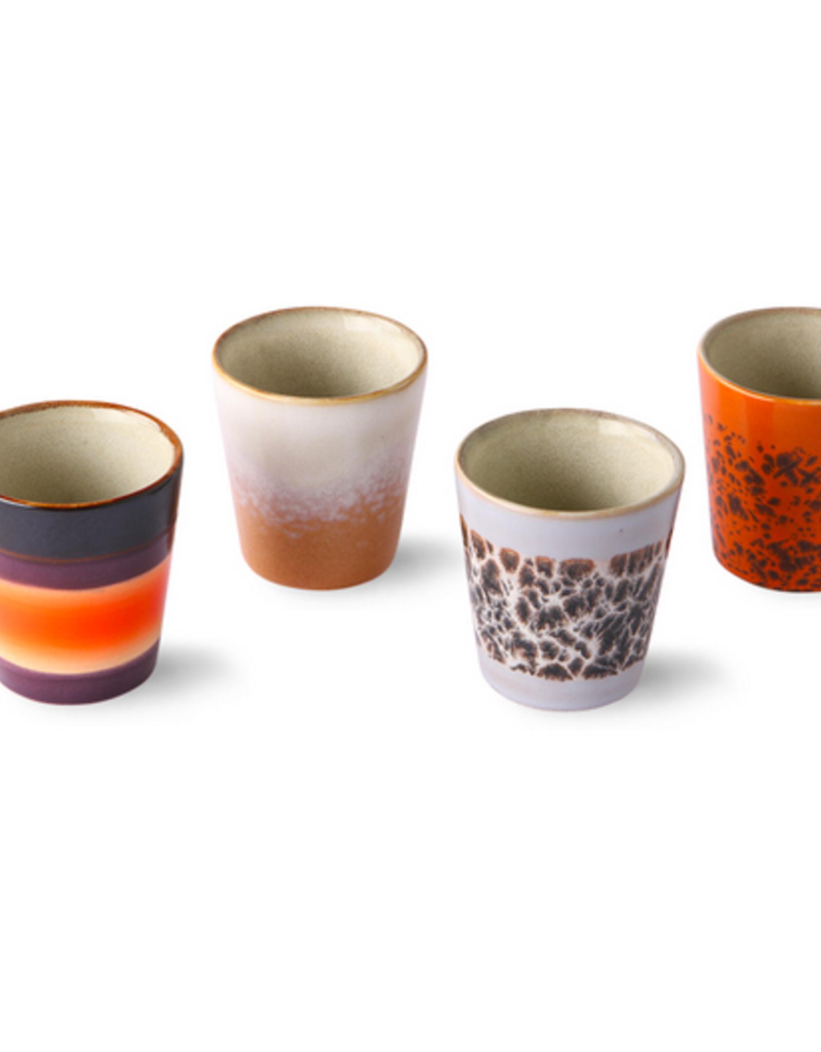 HK Living 70's ristretto mugs (set of 4)