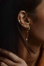 Anna + Nina Single La perla ring earring silver