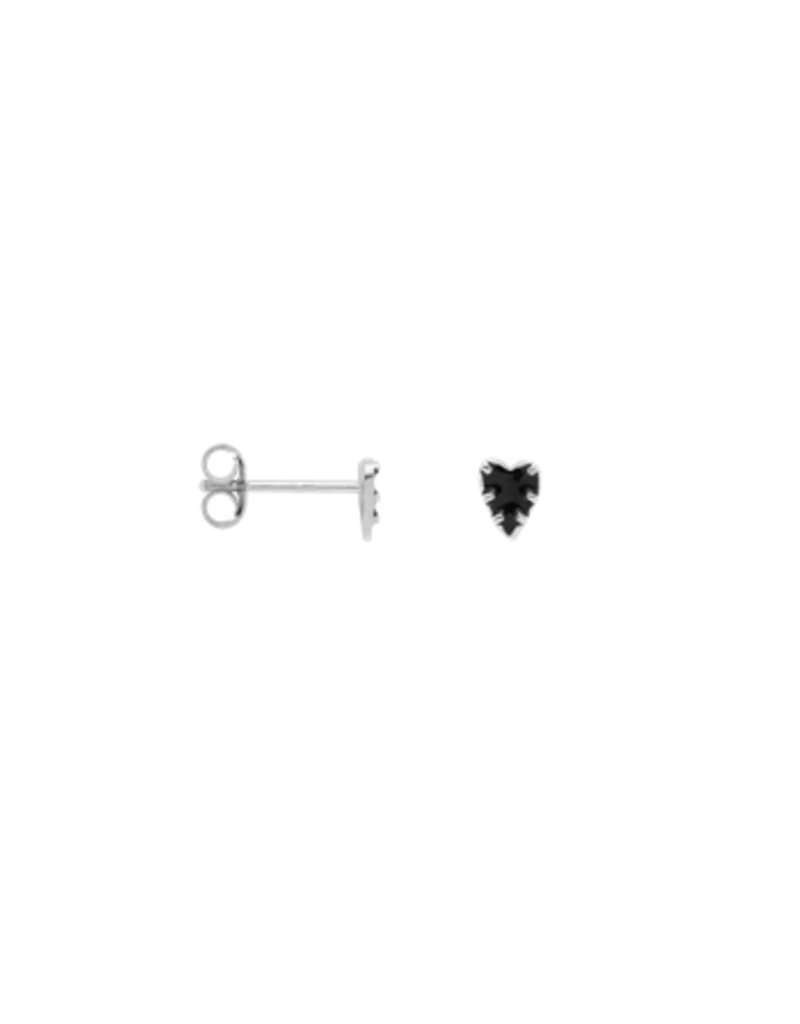 Anna + Nina  Single la muerta heart stud earring silver