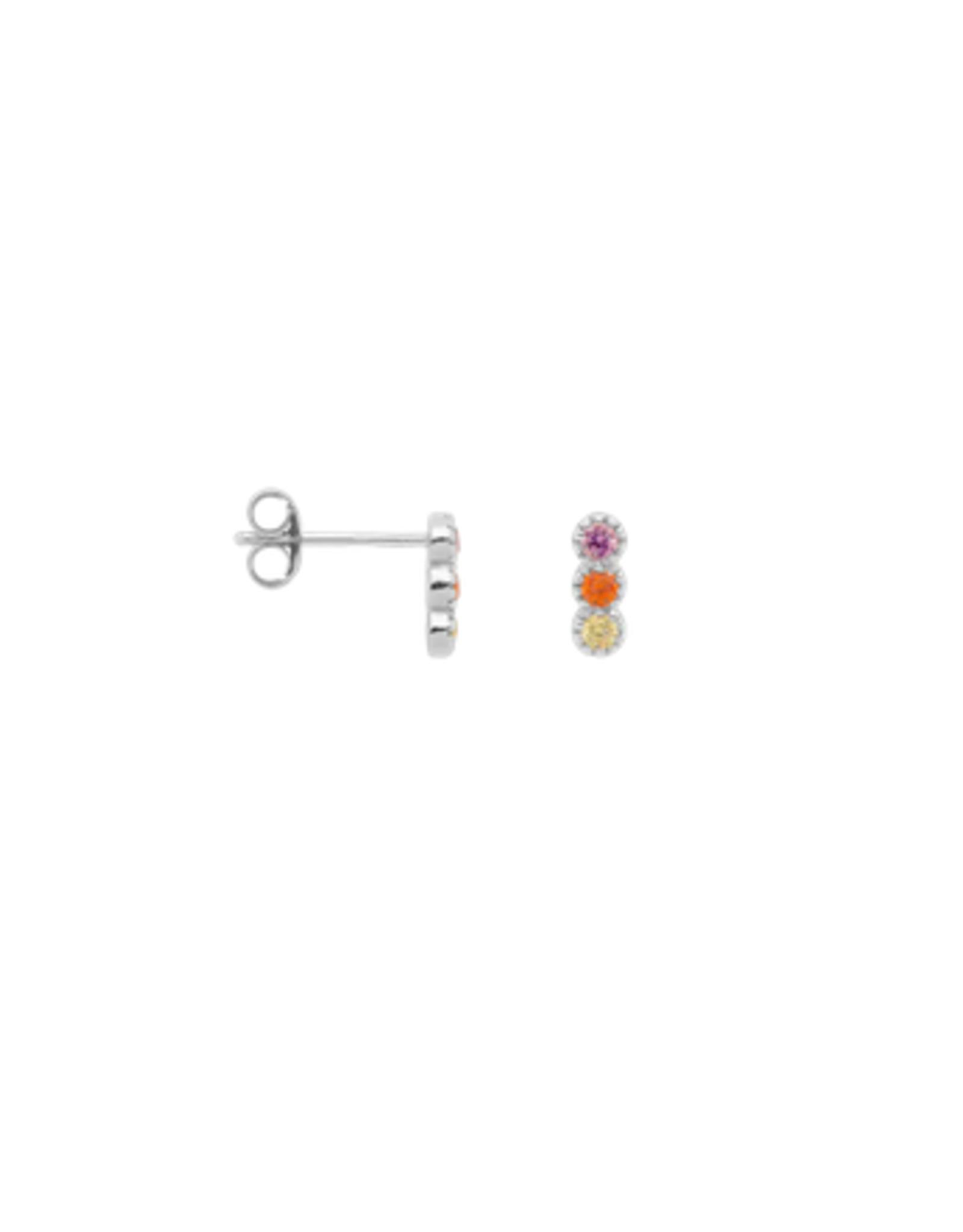 Anna + Nina single Freedom stud earring silver