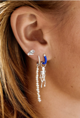 Anna + Nina single blessed hand stud earring silver