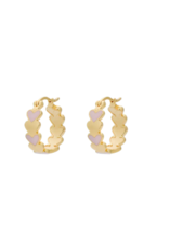 Anna + Nina Amor coloured ring earrings silver goldplated