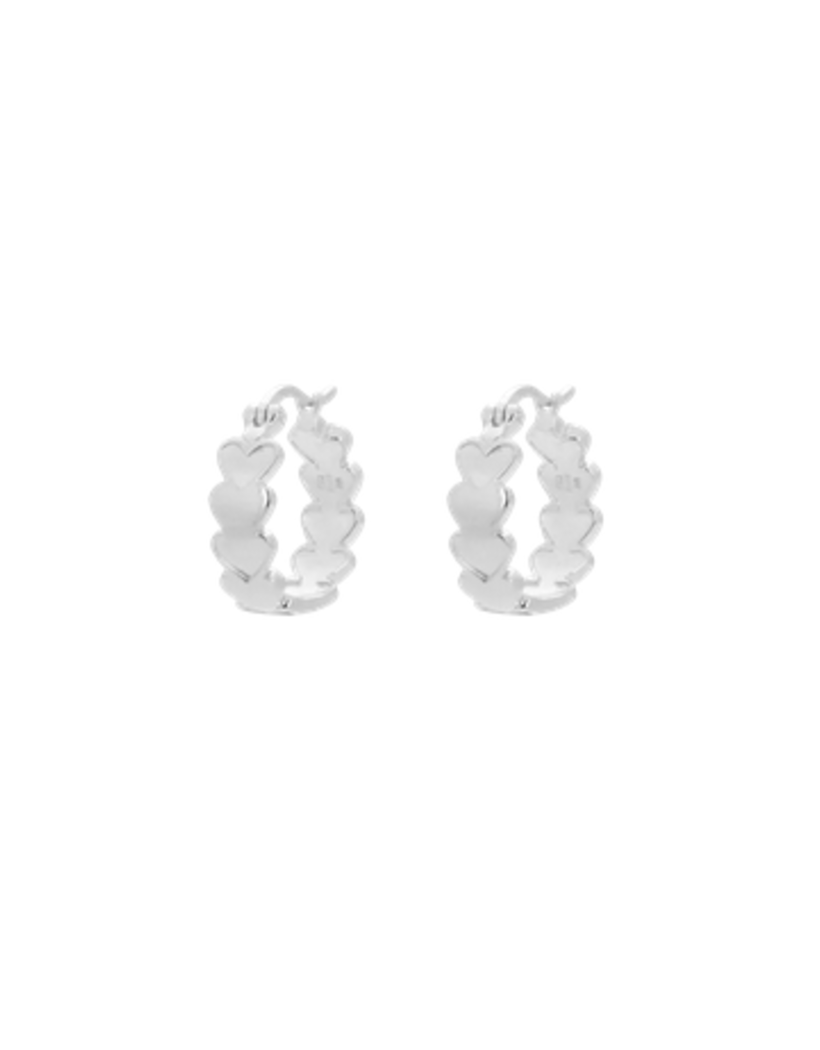 Anna + Nina Amor plain ring earrings silver