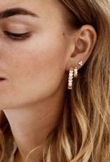 Anna + Nina Amor Plain ring Earrings silver goldplated
