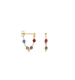 Anna + Nina Single Muse chain earring goldplated
