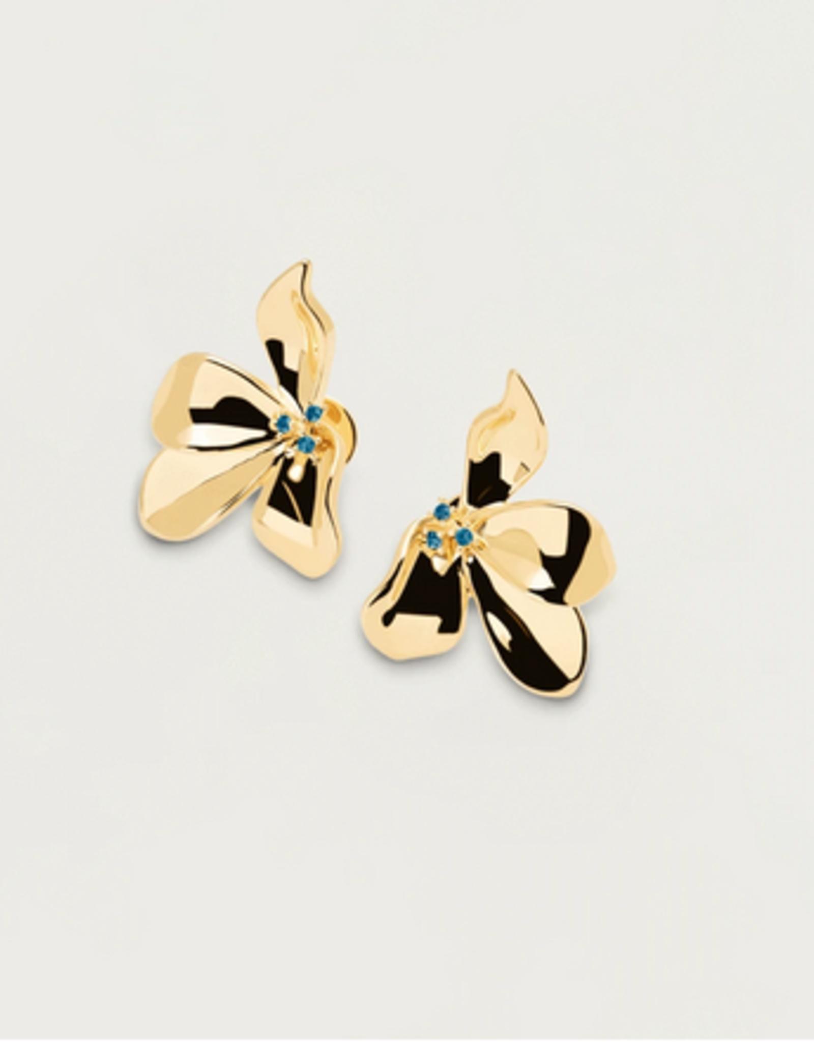 PD Paola Fleur gold earrings