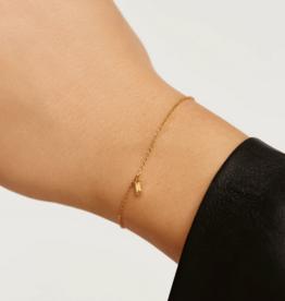 PD Paola Apple asana gold bracelet