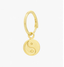 Wildthings Collectables Yin Yang coin earring gold