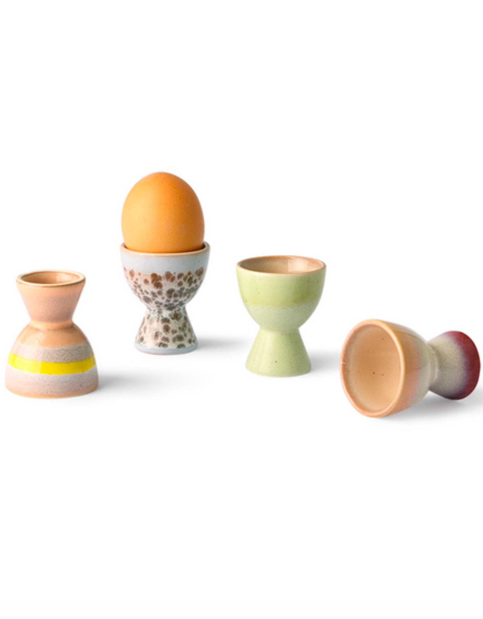 HK Living 70's ceramics egg cups (set of 4)