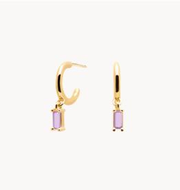 PD Paola Aisha purple earrings gold