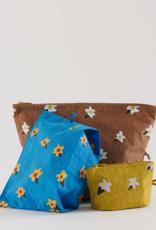 Baggu Go pouch set painted daisies