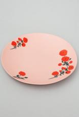 Bernadette Bernadette Dinner plate Red blossom on pink