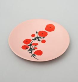 Bernadette Bernadette Side plate red blossom on pink