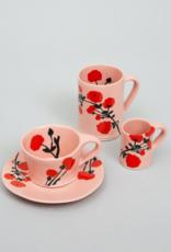 Bernadette Bernadette Cup and saucer Red blossom