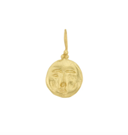 Cleopatra's Bling Moon Face Pendant goldplated necklace