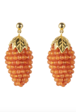 Cleopatra's Bling Bacchus Earrings goldplated