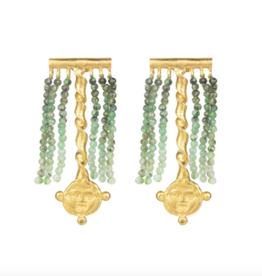 Cleopatra's Bling Crotalia Gorgoneion Earrings goldplated