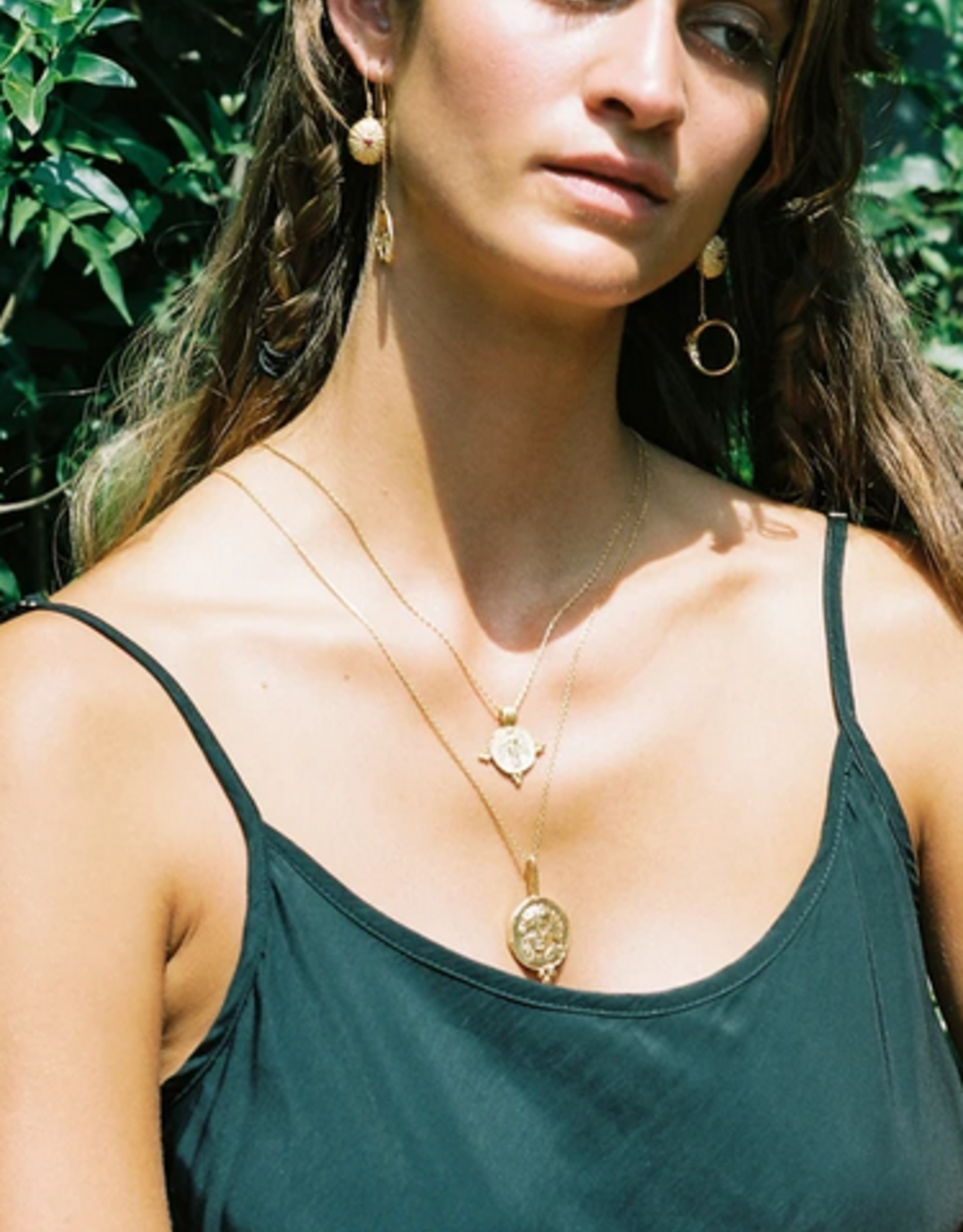 Cleopatra's Bling Gabriel Pendant goldplated necklace