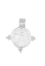 Cleopatra's Bling Gabriel Pendant silver necklace
