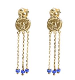 Cleopatra's Bling Gorgoneion Charm Earrings goldplated
